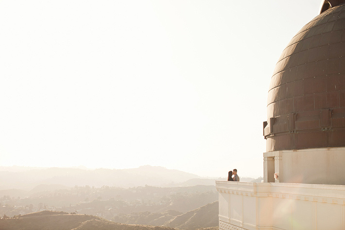 jgriffith park and observatory engagement photography