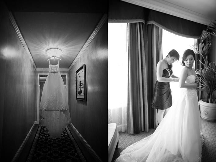 pasadena Langham Hotel wedding photography