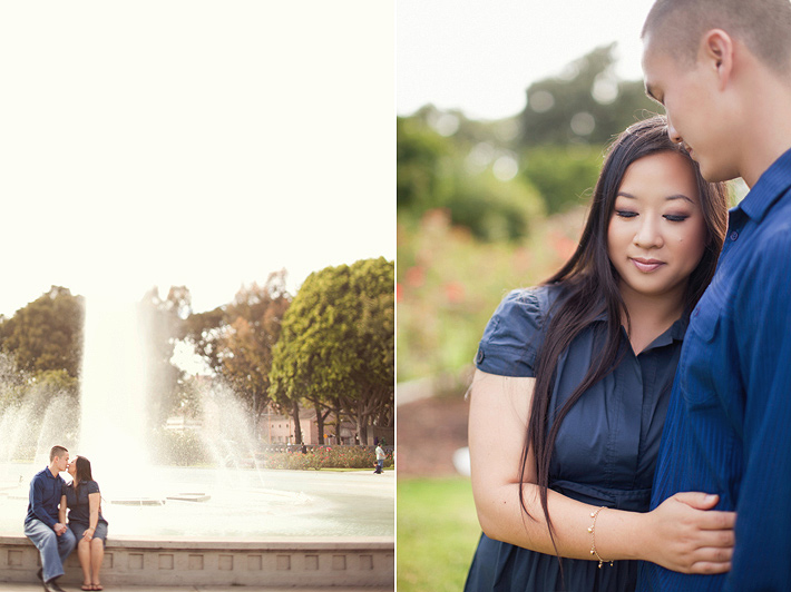downtown los angeles wedding photography, downtown los angeles engagement photography, Walt Disney Concert Hall engagement photography, USC engagement photography, rose garden engagement photography
